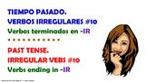 #10. Verbos Irregulares en tiempo pasado en español.