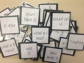 1-10 number question cards