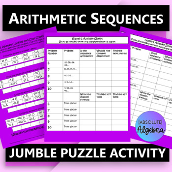 $100,000 Pyramid Game Show Activity…Arithmetic Sequences Grades 7-12