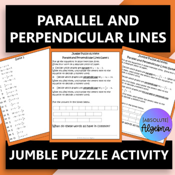 Parallel and Perpendicular Lines  $100,000 Pyramid Activity
