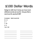 $100 Dollar Words