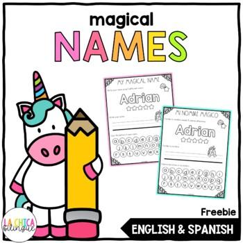 {100 Follower Freebie} Magical Names - Editable in English & Spanish
