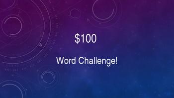 $100 Word Challenge Powerpoint Instruction