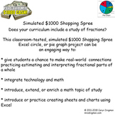 Excel Graphing $1000 Simulated Shopping Spree