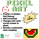 ÷11 Division Pixel Art! Digital Practice for Math Facts with Secret Reveal!