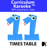 '11 TIMES TABLE' ~ Read, Sing & Learn Song Video l Distanc
