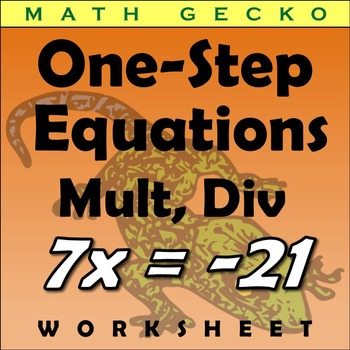 #112 - One-Step Equations (Multiplication,Division) Riddle