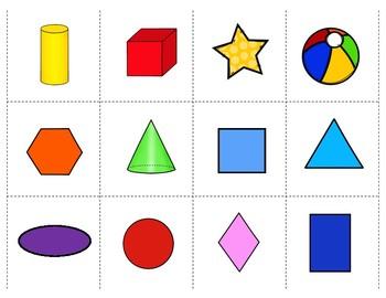 graphic regarding Shape Bingo Printable identified as Free of charge! 2D/3D Form Bingo