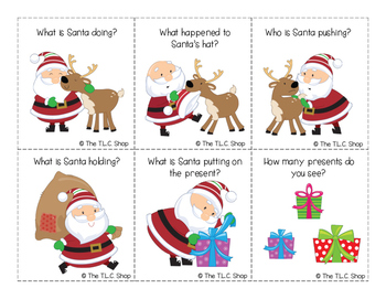 FREE! Holiday Themed Simple WH- Questions (with pictures)