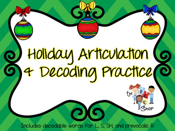 FREE! Holiday Articulation and Decoding Practice