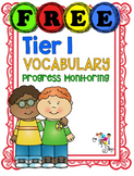 FREE! Tier 1 Vocabulary Progress Monitoring