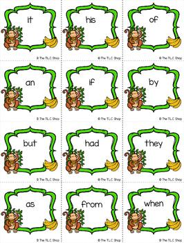 FREE! Monkey Sight Word Game
