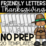 Thanksgiving Themed Friendly Letter Templates