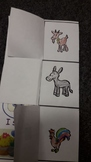Farm animals story and song table activities and craft