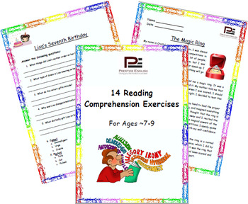 """14 Reading Comprehension Exercises for Ages 7-9"" SAMPLE -"