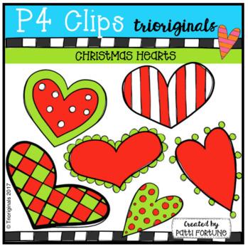 FREE Christmas Hearts (P4 Clips Trioriginals)