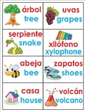 +170 Spanish / English Full color Flash Cards & hand writing practice