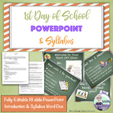 First Day of School PowerPoint & Syllabus