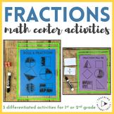 |1st Grade, 2nd Grade| Roll a Fraction Math Center Dice Game