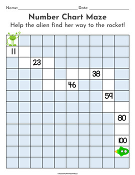 |1st Grade| Differentiated Hundred Chart Pattern Mazes Math Center