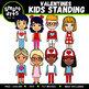 Seasonal Kids Standing Clipart Bundle