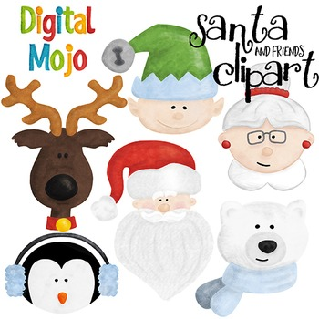 Santa Clipart (Mrs. Claus, Reindeer and more)