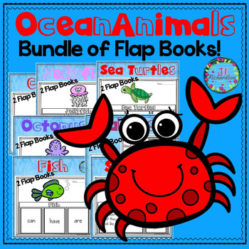 OCEAN ANIMAL Writing Flap Books!