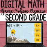 #2 2nd Grade Digital Math Review Game Test Prep on Google Slides & PowerPoint