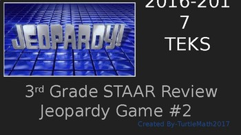 #2 - 3rd Grade Jeopardy Game - NEW TEKS - 2017