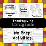 Thanksgiving Reading Activities Bundle - Reading Comprehension and More