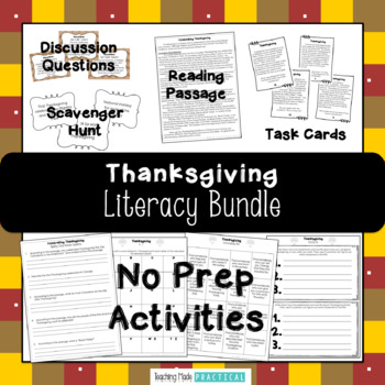 Thanksgiving Reading Activities Bundle