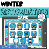 BOOM Cards BUMP Winter Articulation Game S L R Speech Ther