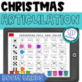 BOOM Cards Christmas Articulation Roll Say Color Speech Therapy