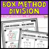 2 Digit Dividends   Box Method Long Division Worksheets