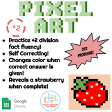 ÷2 Division Pixel Art! Digital Practice for Math Facts with Secret Reveal!
