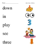 #3. Dolch Pre-Primer Sight Word Picture Match