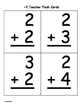 +2 Fluency Assessment Flash Cards