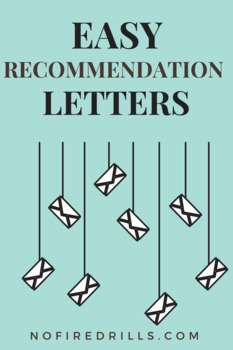 (2) Letter of Recommendation Request Forms and (3) Email Templates