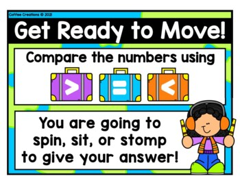 2.NBT.4 - Comparing Numbers Movement Game