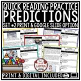 #2 Quick Digital Reading Comprehension Skills: Making Predictions Passages