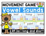 2.RF.3a - Long and Short Vowels Movement Interactive Game