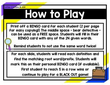 2.RF.3d - Prefixes Bingo Game