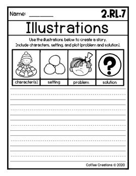 {2.RL.7} Using Illustrations - Printables, Mini Book, Journal Prompts