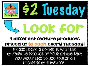 $2 Tuesday Feature Product INFORMATION and REQUESTS