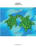 #2 Turtles, Numbers, Animals, First Nations, Indigenous, Aboriginal