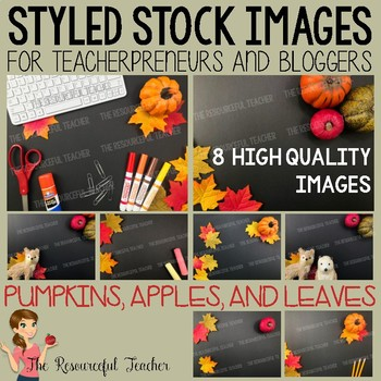Pumpkins, Apples, and Leaves Styled Stock Photos - Products for TpT Sellers