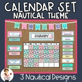 Calendar Bulletin Board | Nautical Theme | Classroom Decor