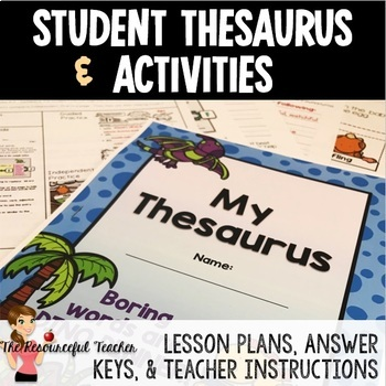 Thesaurus Lesson and Activities