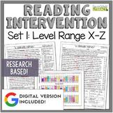 Reading Intervention Program: Set 1-X-Z | Distance Learning | Google Classroom