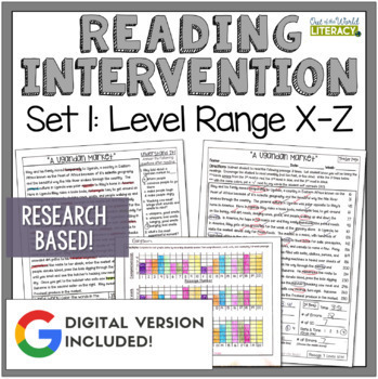 Reading Intervention Program: Set One Level Range X-Z RESE